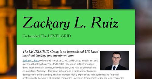 Zackary L. Ruiz