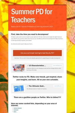 Summer PD for Teachers