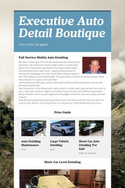 Executive Auto Detail Boutique