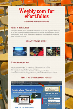 Weebly.com for ePortfolios