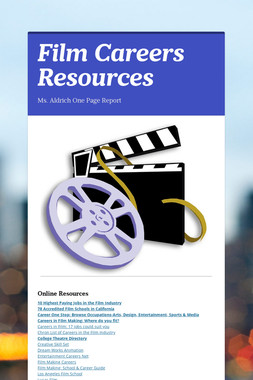 Film Careers Resources
