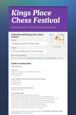Kings Place Chess Festival