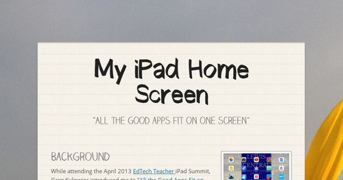 My iPad Home Screen