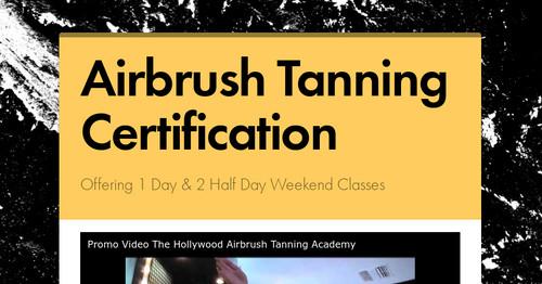 Airbrush Tanning Certification