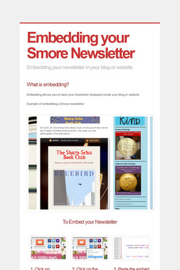 Embedding your Smore Newsletter