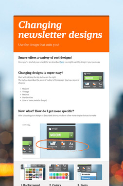 Changing newsletter designs