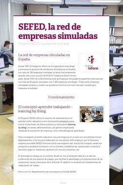 SEFED, la red de empresas simuladas