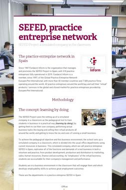 SEFED, practice entreprise network
