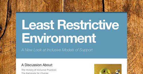 How Can We Improve Special Education >> Least Restrictive Environment | Smore Newsletters for ...