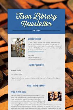 Tison Library Newsletter