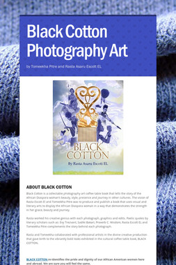 Black Cotton Photography Art