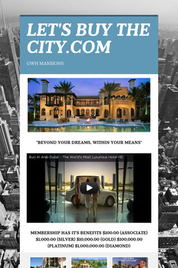 LET'S BUY THE CITY.COM