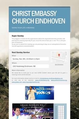 CHRIST EMBASSY CHURCH EINDHOVEN