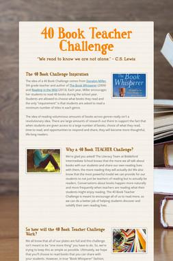 40 Book Teacher Challenge
