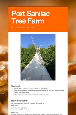 Port Sanilac Tree Farm