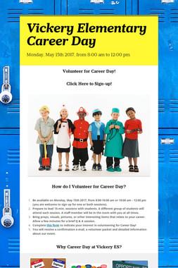 Vickery Elementary Career Day