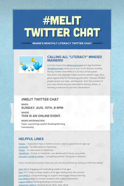 #MELit Twitter Chat