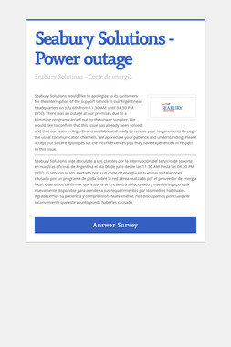 Seabury Solutions - Power outage