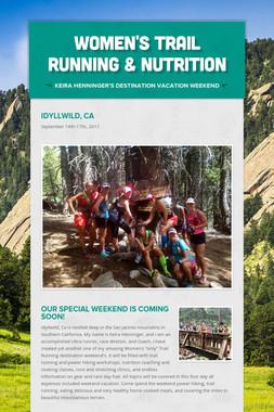 Women's Trail Running & Nutrition