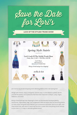 Save the Date for Lori's