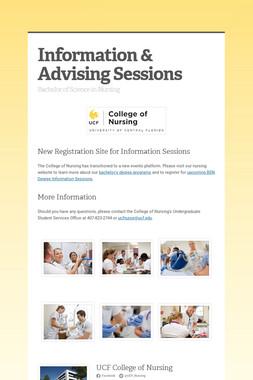 BSN Information & Advising Session