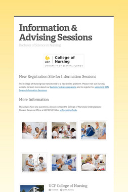 Information & Advising Sessions