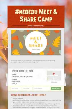 #nebedu Meet & Share Camp