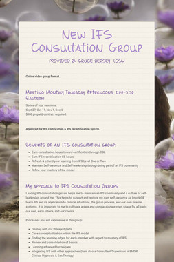 New IFS Consultation Group