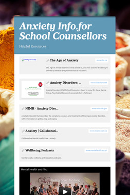 Anxiety Info.for School Counsellors
