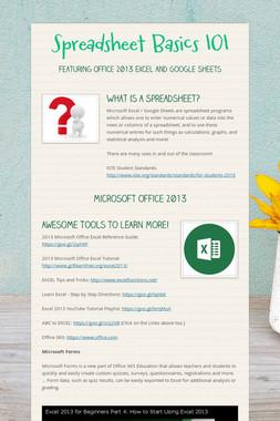 Spreadsheet Basics 101