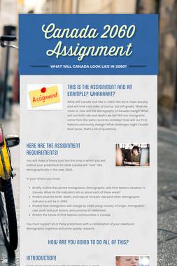 Canada 2060 Assignment