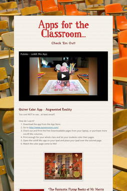 Apps for the Classroom...