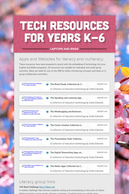 Tech Resources for  Years K-6