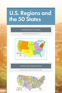 U.S. Regions and the 50 States