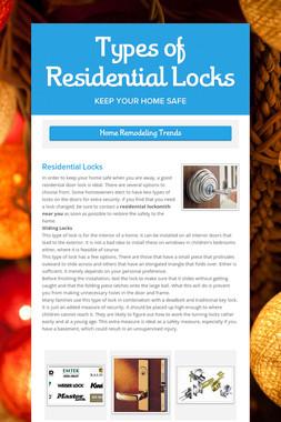 Types of Residential Locks
