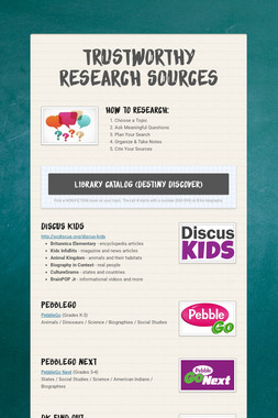 Trustworthy Research Sources