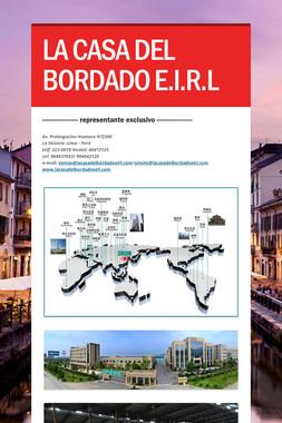 LA CASA DEL BORDADO E.I.R.L