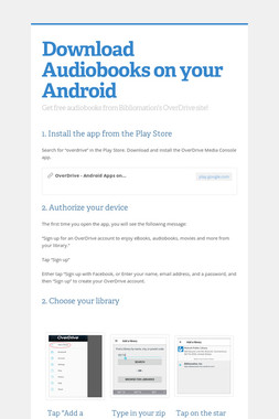 Download Audiobooks on your Android