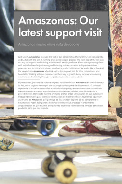 Amaszonas: Our latest support visit