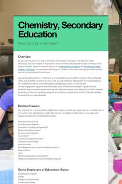 Chemistry, Secondary Education