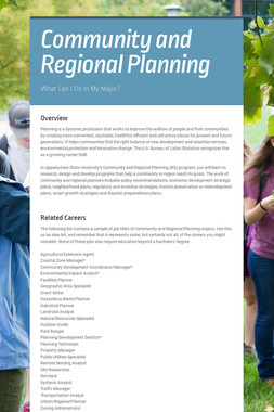 Community and Regional Planning