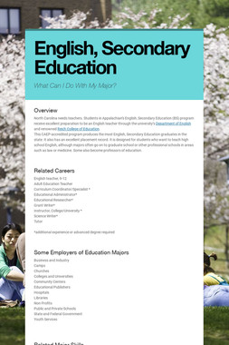 English, Secondary Education