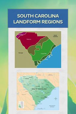 South Carolina Landform Regions