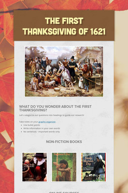 The First Thanksgiving of 1621