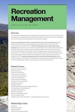 Recreation Management
