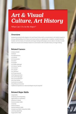 Art & Visual Culture, Art History