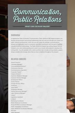 Communication, Public Relations