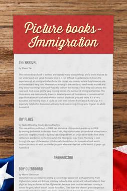 Picture books- Immigration