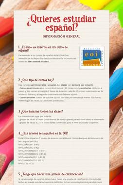 ¿Quieres estudiar español?