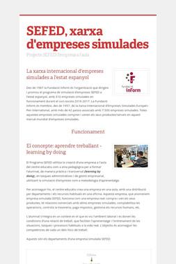 SEFED, xarxa d'empreses simulades